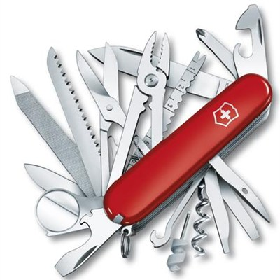 Swiss Champ Multitool Knife - Red - OPEN BOX
