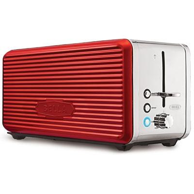 Linea 4-Slice Long Slot Toaster in Red - 14087