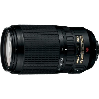 70-300mm f/4.5-5.6G ED-IF AF-S VR Zoom-Nikkor, With Nikon 5-Year USA Warranty