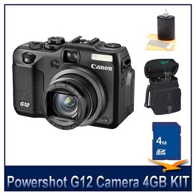 Powershot G12 Camera 4GB Bundle