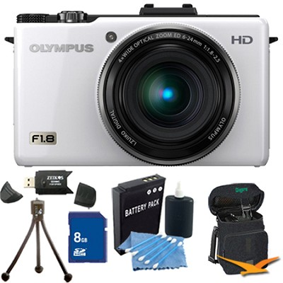 XZ-1 10MP f1.8 Lens Digital Camera 8GB White Kit