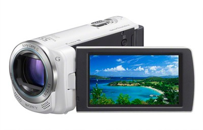 HDR-CX260V HD Camcorder 16GB 30x Optical Zoom with Geotagging (White)