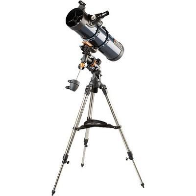 AstroMaster 130 EQ MD 5.1`/130mm Reflector Telescope Kit   NEW TORN BOX