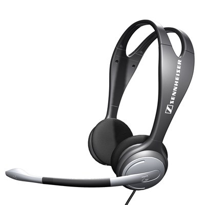 Over-the-Head Binaural Headset with Volume Control and Microphone Mute - 500912