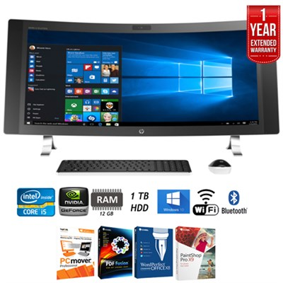 ENVY 34-a010 34` Curved Intel Core i5 All-in-1 Desktop+Extended Warranty Pack