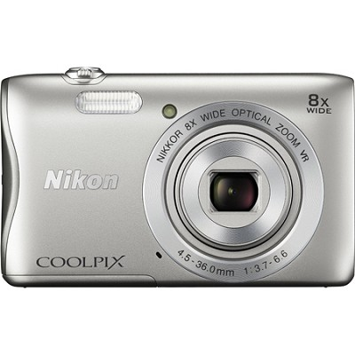 COOLPIX S3700 20.1MP 720p HD Video Digital Camera - Silver