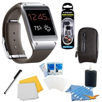 Mocha Gray Galaxy Gear Smartwatch Accessory Bundle