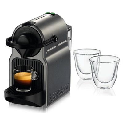 Titan Inissia Espresso Maker and 2 Glasses Bundle