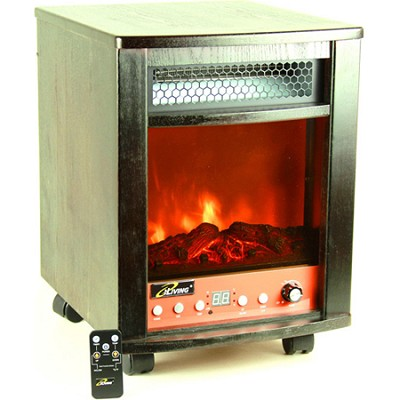 Electric Portable Fireplace and Space Heater with Remote, 1500 Watts