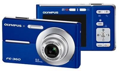 FE-360 8MP Digital Camera (Blue)