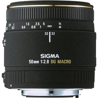 50MM F2.8 EX DG Macro Nikon Lens (Factory Refurbished)
