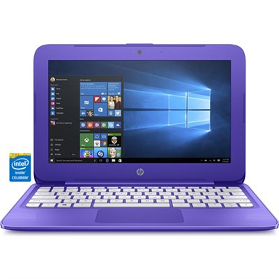 Stream 11-y020nr 11.6` Violet Laptop - Intel Celeron N3060 Processor