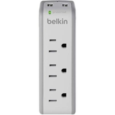 3-Outlet Wall Mountable Surge Protector in White - BST300bg