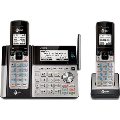 TL96273 DECT 6.0 2-Handset Connect to Cell Landline Telephone