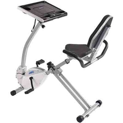 2-in-1 Recumbent Exercise Bike Workstation and Standing Desk - 15-0321
