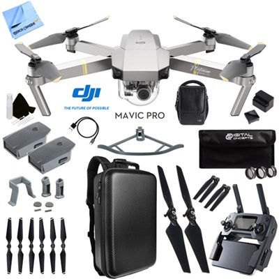 Mavic Pro 4K Quadcopter Drone Fly More Combo Pack 2 Extra Batteries Ultra Kit
