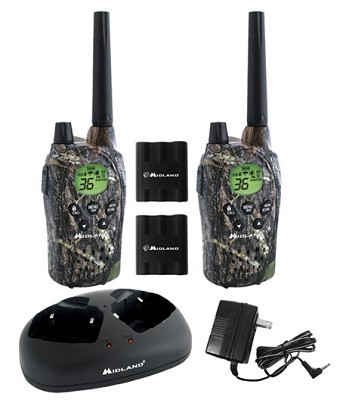 FRS/GMRS Mossy Oak 36 Channel 30 Mile 5 Watt Batteries and Charger (pair)