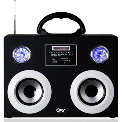 CS-215 Silver Portable Multimedia Speaker with FM Radio