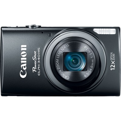 PowerShot ELPH 340 HS 16MP 12x Zoom 3-inch LCD - Black
