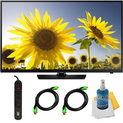 UN40H4005 - 40-Inch HD 720p Slim LED TV Clear Motion Rate 60 Plus Hook-Up Bundle