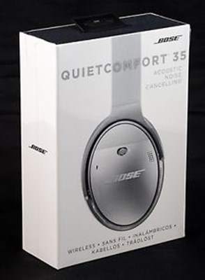 QuietComfort 35 Bluetooth Wireless Over-Ear Headphones w/Mic/NFC -BLK - OPEN BOX
