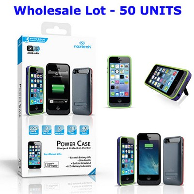 Apple Certified 2400mAh Power Case for iPhone 5/5s - Wholesale Lot - 50 Pieces