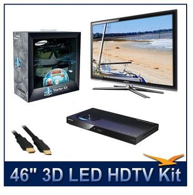 UN46C7000 - 46` 3D 1080p 240Hz LED HDTV Kit w/ 3D Glasses & Blu-Ray Player