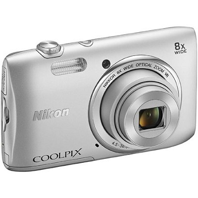 COOLPIX S3600 20.1MP Digital Camera with 8X Optical Zo Manufacturer Refurbished