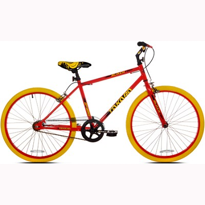 Blacktop Fixie Red/Yellow Bike (24-Inch Wheels)