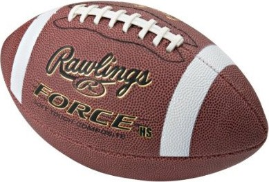 Force Composite Leather Official Size Football with Half Stripe