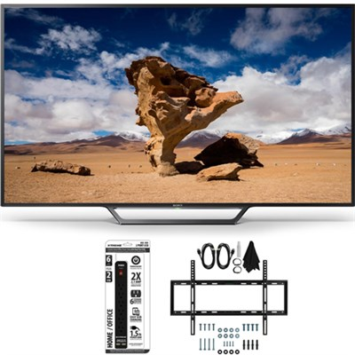KDL-40W650D 40-Inch Class Full HD 1080P TV with Slim Flat Wall Mount Bundle
