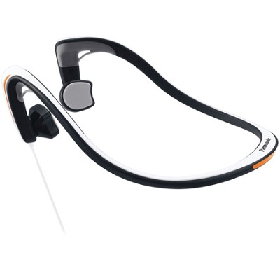 Open-Ear Bone Conduction Headphones with Reflective Design, White