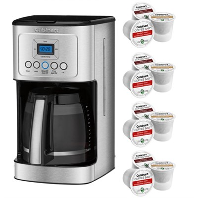 Perfect Temp 14-Cup Programmable Coffeemaker Stainless Steel + 12 K-Cup Pack