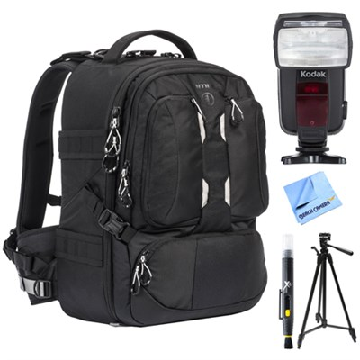 ANVIL 23 Photo DSLR Camera and Laptop Backpack w/ Flash Bundle For Nikon
