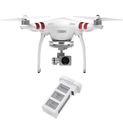 Phantom 3 Standard Quadcopter Drone with 2.7K Camera And Extra Battery