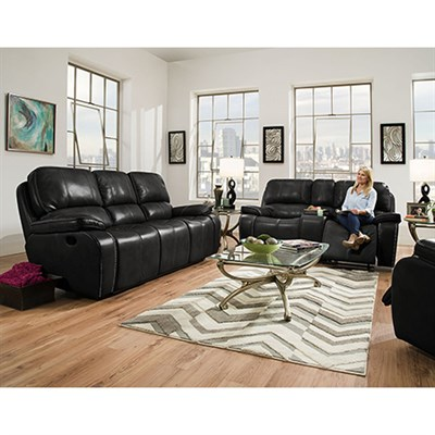 Alpine 3pc Living Set: Sofa Loveseat Recliner