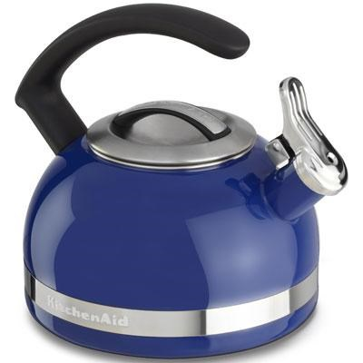 2.0-Quart Kettle with C Handle and Trim Band in Doulton Blue - KTEN20CBDB