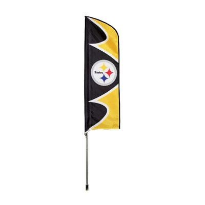 Steelers Swooper Flag And Pole