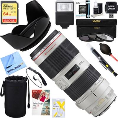 EF 70-200mm f/2.8L IS II USM Telephoto Zoom Lens + 64GB Ultimate Kit
