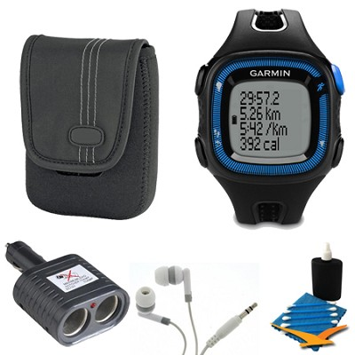 Forerunner 15 Heart Rate Monitor Bundle Large - Black/Blue Bundle
