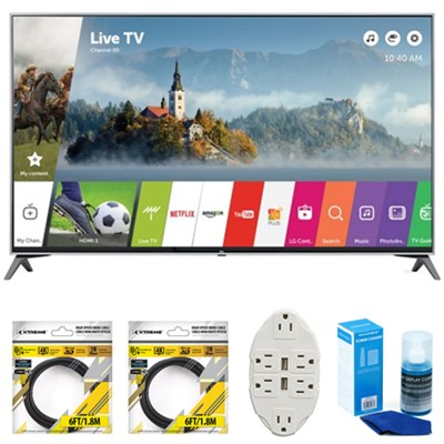 49` Super UHD 4K HDR Smart LED TV 2017 Model 49UJ7700 with Cleaning Bundle