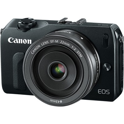 EOS M 18MP SLR Camera w/ 22mm STM f/2 Lens & 3.0-inch Touchscreen