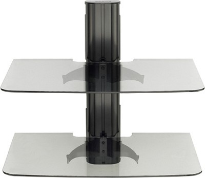 VF2012 - Vertical A/V Series Single Column, 2-shelf on-wall component shelving