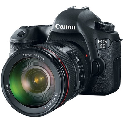 EOS 6D Full Frame 20.2 MP SLR Camera w/ 24-105mm USM f/4.0L IS AF Lens