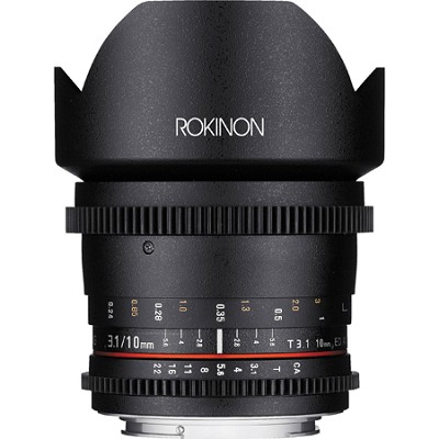 10mm T3.1 Cine Wide Angle Lens for Micro Four Thirds