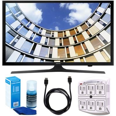 Flat 50-Inch 1080p LED SmartTV (2017 Model) + Accessories Bundle