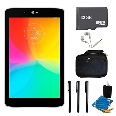 G Pad V 400 8GB 7.0` WiFi White Tablet, 32GB Card, and Case Bundle