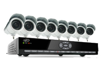 8 Channel H.264 Smart DVR Security System with 8 Indoor/Outdoor Cameras