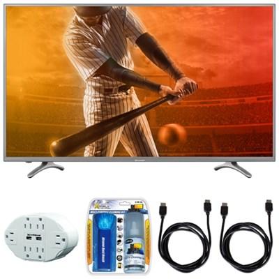 Aquos N5300 FHD 55` Class 1080p 60Hz WiFi Smart LED TV w/ Hook up Bundle