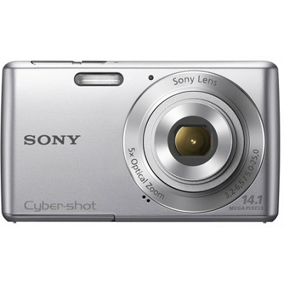 Cyber-shot DSC-W620 Silver Compact Digital Camera 5x Optical Zoom, HD Video
